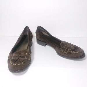 Talbots Brown Suede Tassel Loafers 11B